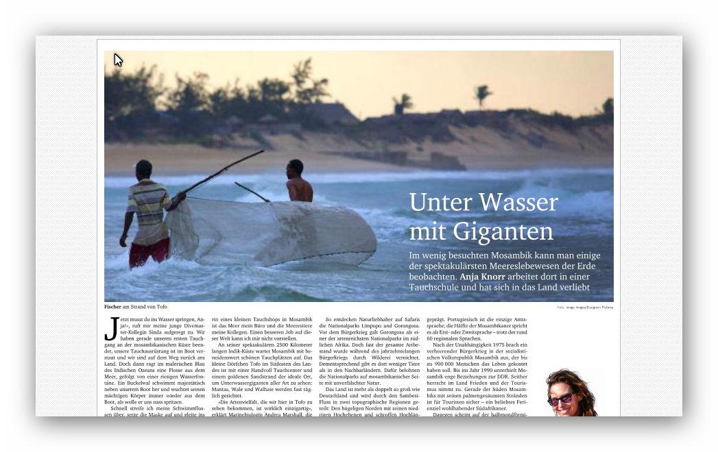 Neues Deutschland Mosambik